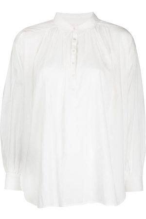 NILI LOTAN Senhora Blusas - Miles pullover button-down blouse