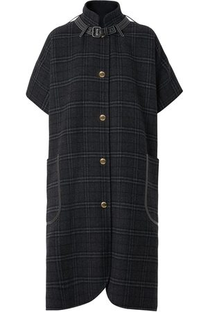 Burberry Vintage Check wool cape
