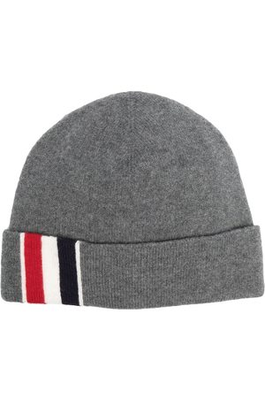 Thom Browne Homem Chapéus - Stripe detail merino beanie