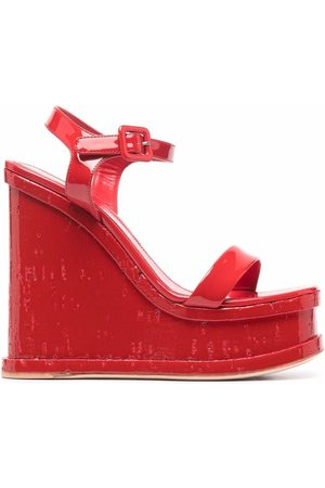 HAUS OF HONEY Lacquer doll wedge-heel sandals