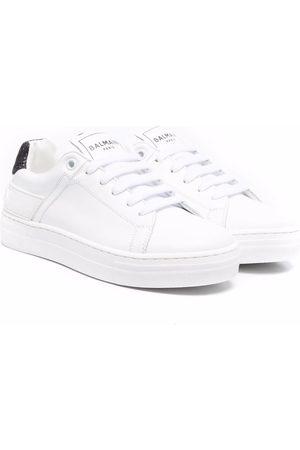 Balmain Two-tone flatform sneakers