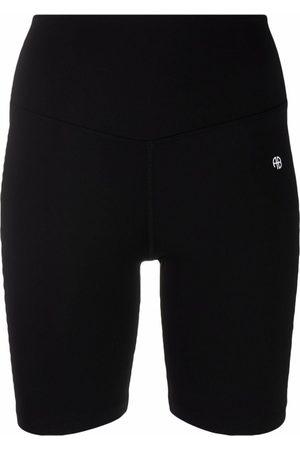 ANINE BING Senhora Calções desportivos - Logo-print cycling shorts