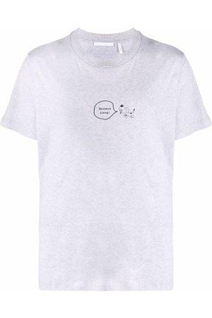 Helmut Lang Puppy-print logo T-shirt