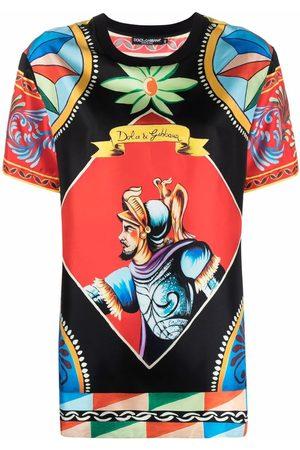 Dolce & Gabbana Senhora T-shirts - Carretto-print T-shirt