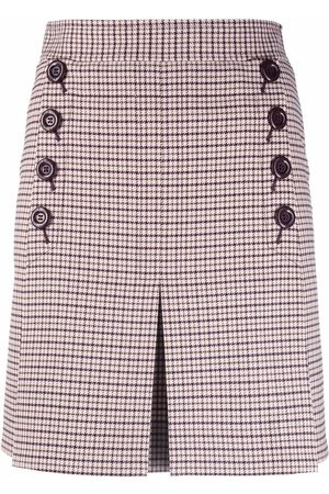 See by Chloé Checked pleated skirt