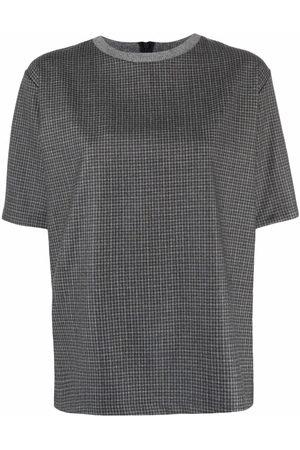 Fabiana Filippi Senhora T-shirts - Plaid-check print T-shirt