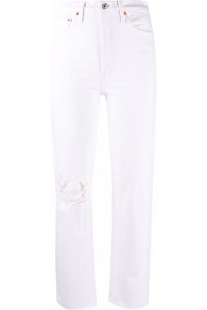 RE/DONE Distressed straight-leg jeans
