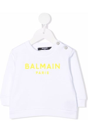 Balmain Bebé Camisolas com capuz - Logo-print sweatshirt