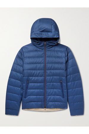 LORO PIANA Homem Casacos - Gateway Quilted Silk-Twill Hooded Down Jacket