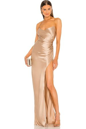 The Sei X REVOLVE Strappy Gathered Gown in - Nude. Size 0 (also in 2, 4, 6, 8).