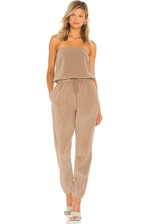 Pam & Gela Tube Jumpsuit in - Tan. Size L (also in XS, S, M).