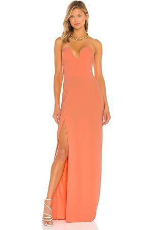 Amanda Uprichard Cherri Gown in - Coral. Size L (also in XS, S, M).