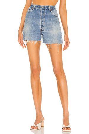 EB Denim OG Shorts in - Blue. Size 23 (also in 24, 25, 26, 27, 28, 29, 30, 31, 32).