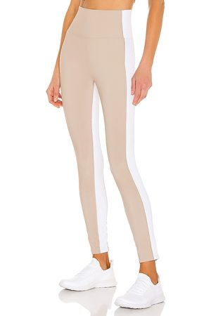 Beach Riot Colorblock Legging in - Taupe. Size L (also in S, XS, M).