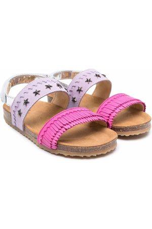 PèPè Menina Sandálias - Two-tone buckled sandals