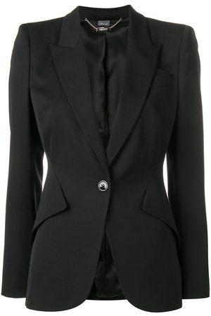 Alexander McQueen Senhora Blazers - Single-breasted blazer