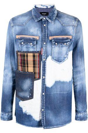 Dsquared2 Multi-pocket distressed denim shirt