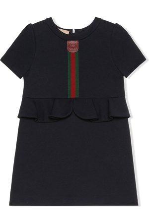 Gucci Menina Vestidos de Festa - Web-stripe peplum dress