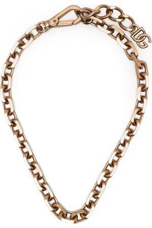 Dolce & Gabbana Homem Colares - Logo-plaque chain necklace