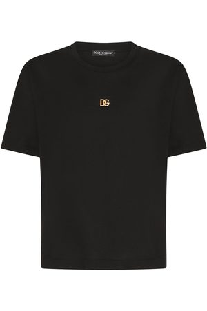Dolce & Gabbana Logo plaque cotton T-shirt