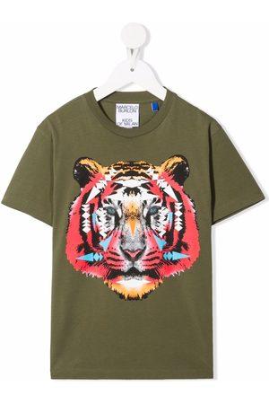 MARCELO BURLON Tiger-motif cotton T-Shirt
