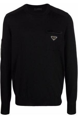 Prada Re-Nylon logo-plaque jumper