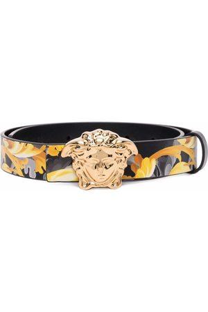 VERSACE Menino Cintos - Medusa Head Baroccoflage-print leather belt