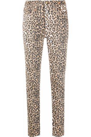 R13 Leopard-print skinny jeans