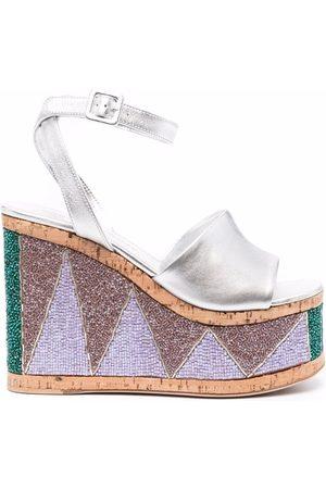 HAUS OF HONEY Lust Bead platform sandals