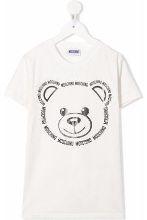 Moschino Teddy bear-print stretch-cotton T-Shirt
