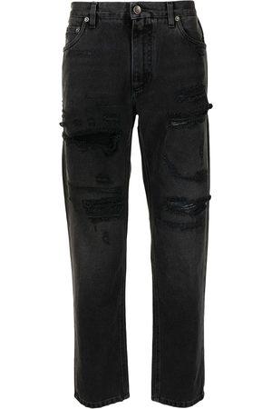Dolce & Gabbana Homem Retos - High-waisted ripped jeans