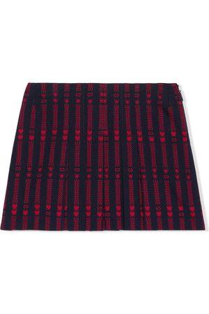 Gucci Menina Saias - Embroidered-design A-line skirt