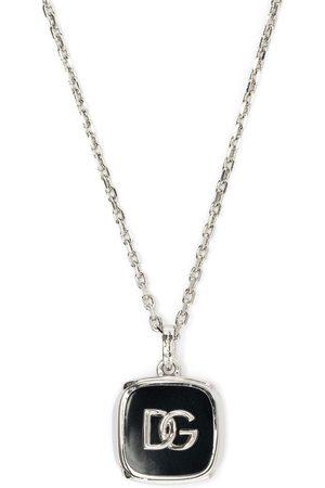 Dolce & Gabbana Homem Colares - Logo-plaque chain-link necklace
