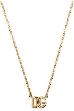 Dolce & Gabbana Homem Colares - DG logo-plaque chain-link necklace