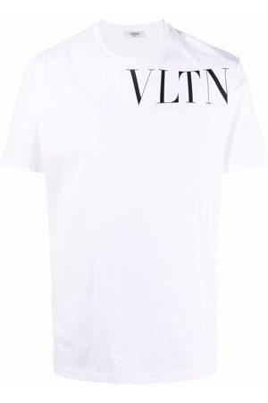 VALENTINO Homem T-shirts & Manga Curta - VLTN logo cotton T-shirt