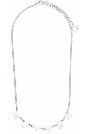 Jil Sander Homem Colares - Mother Lettering necklace