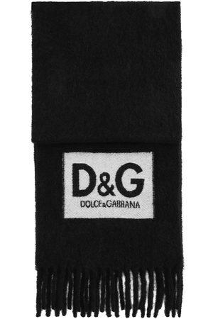 Dolce & Gabbana Logo patch fringed scarf