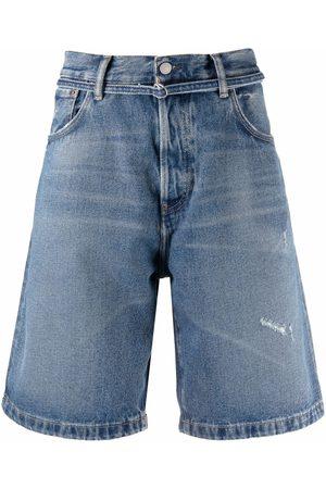 Acne Studios Distressed denim shorts