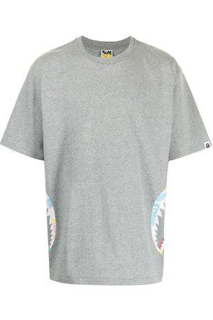 A Bathing Ape Camouflage Shark teeth-detail T-shirt