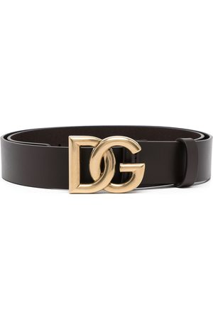Dolce & Gabbana Homem Cintos - Logo-buckle leather belt