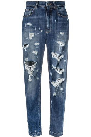 Dolce & Gabbana Senhora Tapered - High-waisted distressed tapered jeans