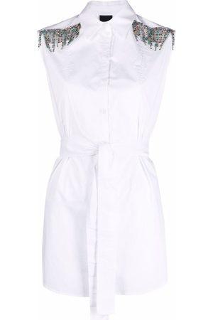 Pinko Senhora Camisas - Crystal fringe detail shirt