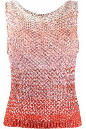 Missoni Senhora Tops de Cavas - Gradient-effect open-knit vest