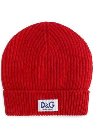 Dolce & Gabbana Homem Chapéus - Logo-patch ribbed-knit beanie