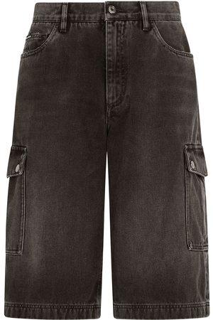Dolce & Gabbana Homem Calções - Denim cargo shorts