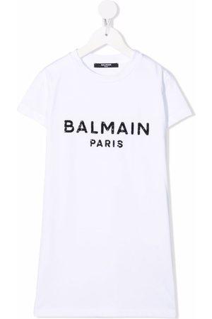 Balmain Menina T-shirts - Logo-print T-shirt dress