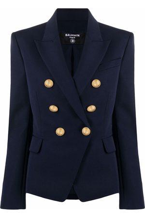Balmain Embossed-button wool jacket