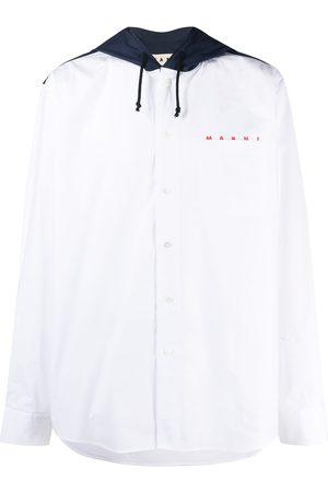 Marni Drawstring-hood long-sleeve shirt