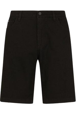 Dolce & Gabbana Homem Calções - Knee-length denim shorts