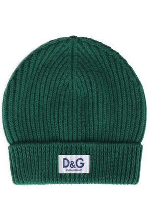 Dolce & Gabbana Homem Chapéus - Logo-patch beanie